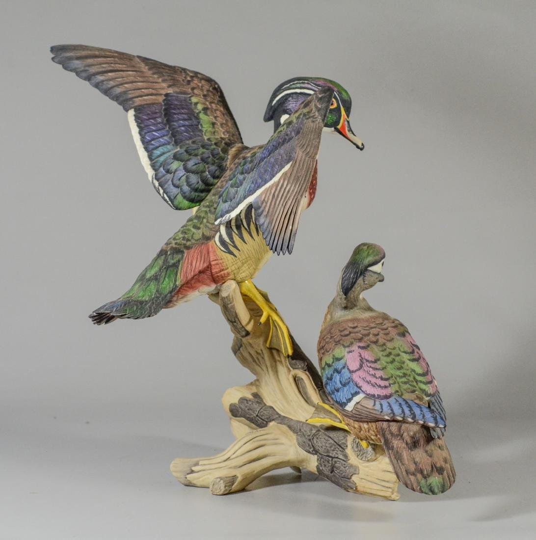 Boehm porcelain Wood Ducks bird figurine - 3