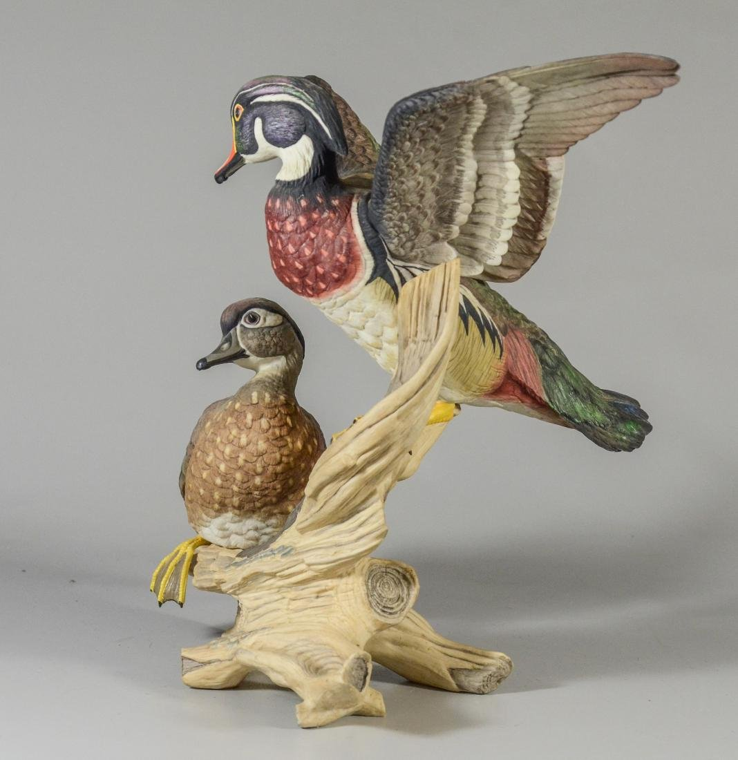 Boehm porcelain Wood Ducks bird figurine - 4