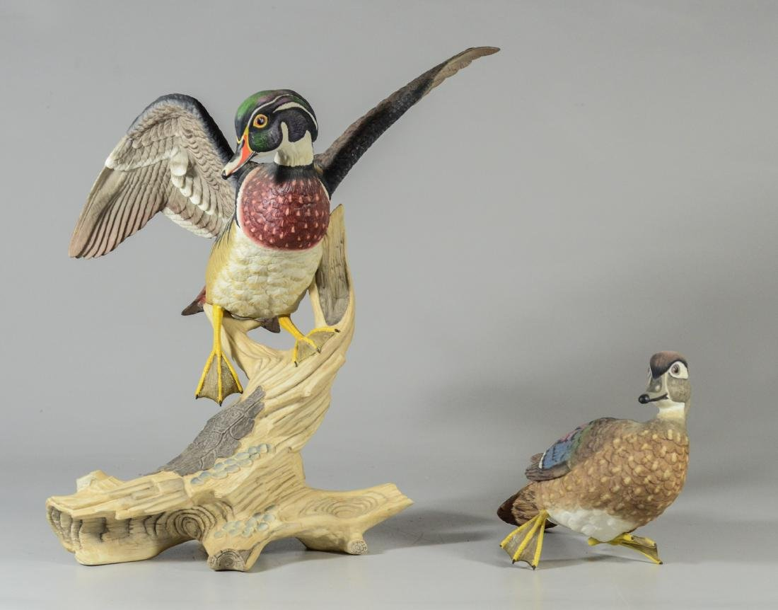 Boehm porcelain Wood Ducks bird figurine - 8