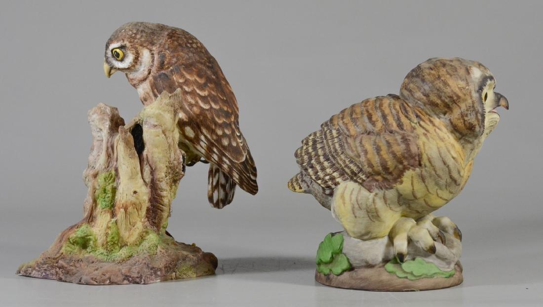 2 Boehm porcelain bird owl figurines - 2