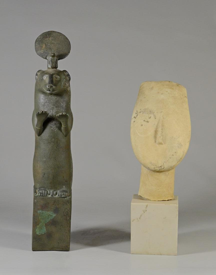 2 MMA reproductions, Cycladic Head & Ptolemaic Otter