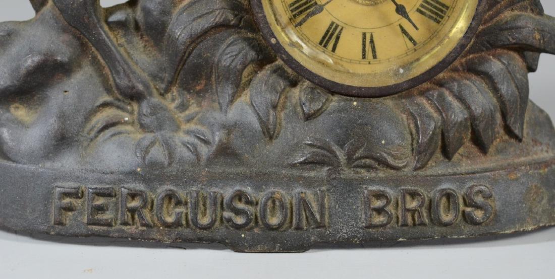 Cast iron advertising clock, Ferguson Bros - 3