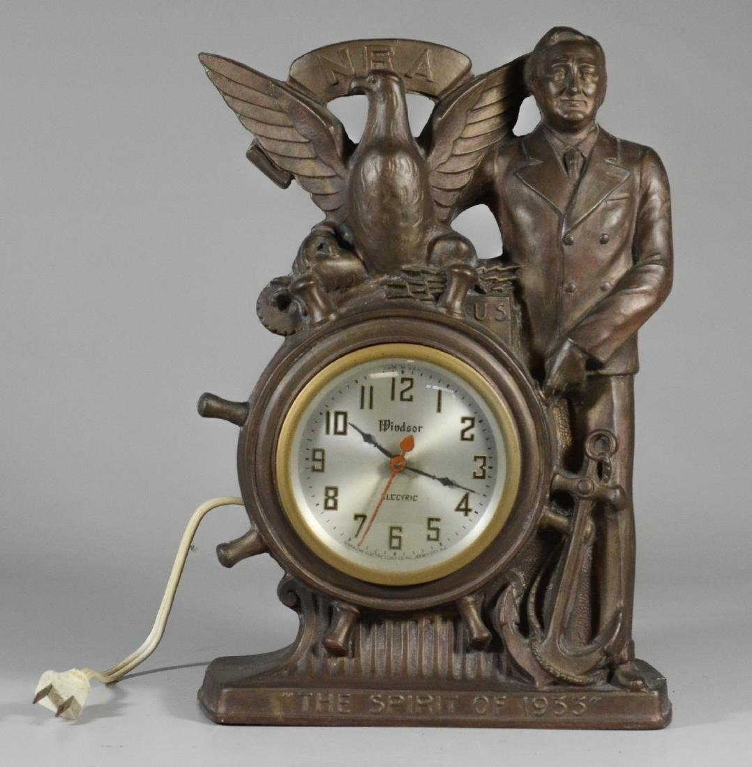 "Gibraltar Electric Clock Co ""The Spirit of 1933"""