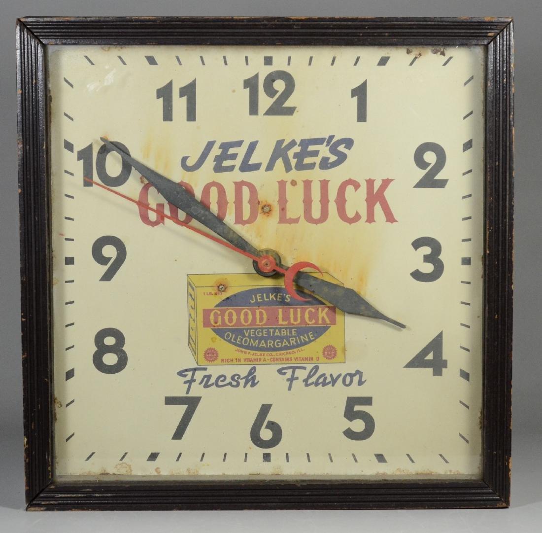 Jelke's Good Luck Oleomargarine electric wall clock
