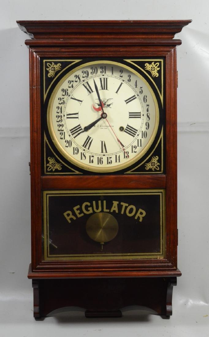 Replica regulator calendar clock by HT Clockmakers