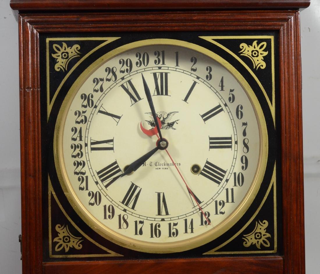 Replica regulator calendar clock by HT Clockmakers - 3