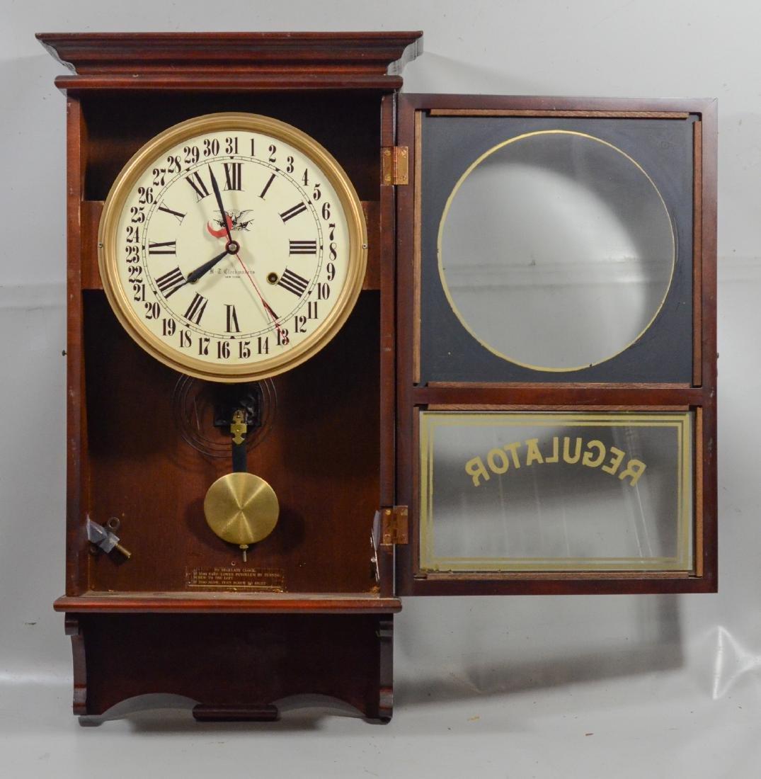 Replica regulator calendar clock by HT Clockmakers - 4