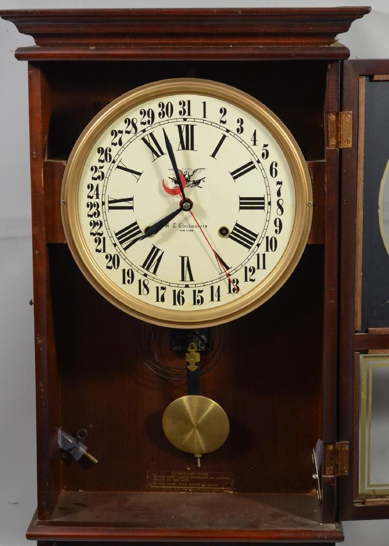 Replica regulator calendar clock by HT Clockmakers - 5