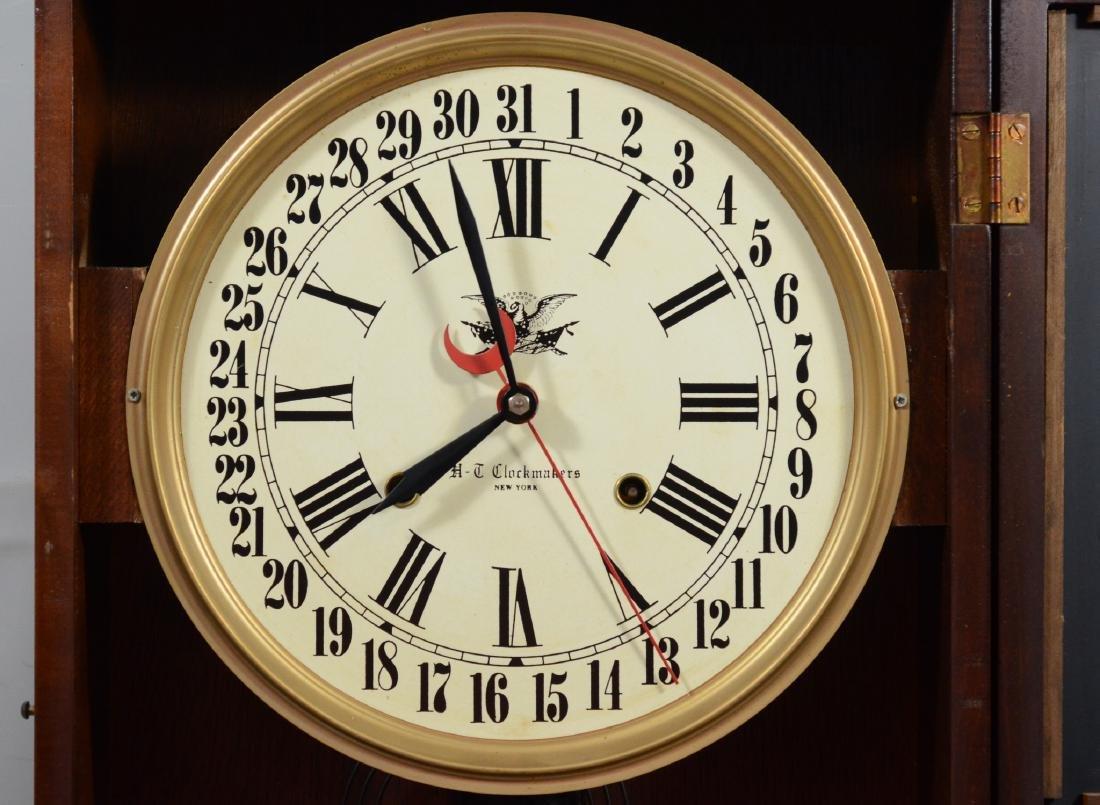 Replica regulator calendar clock by HT Clockmakers - 7