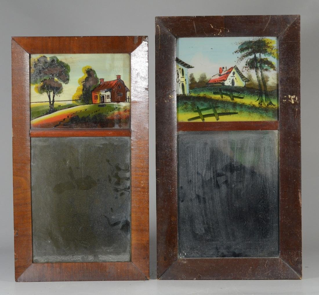 Pair of Mahogany Federal wall mirrors