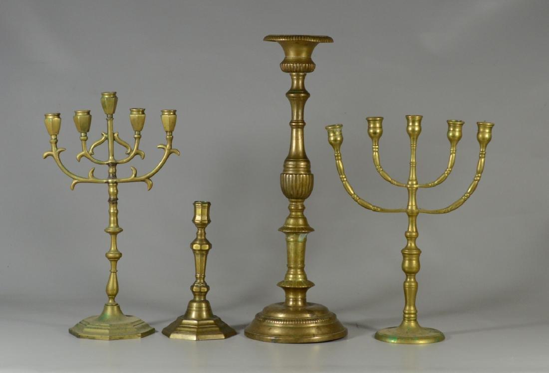 4 Brass candlesticks