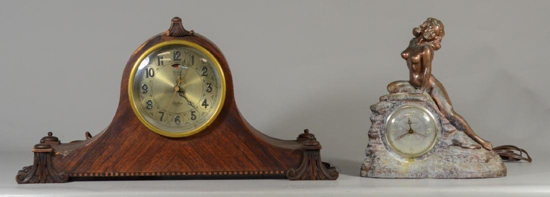 "Telechron Revere 2 Chime mahogany tambour clock, 23"""
