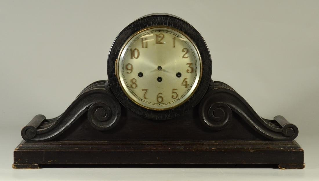 Junghans, Wurttemberg mahogany tambour clock, Westmi