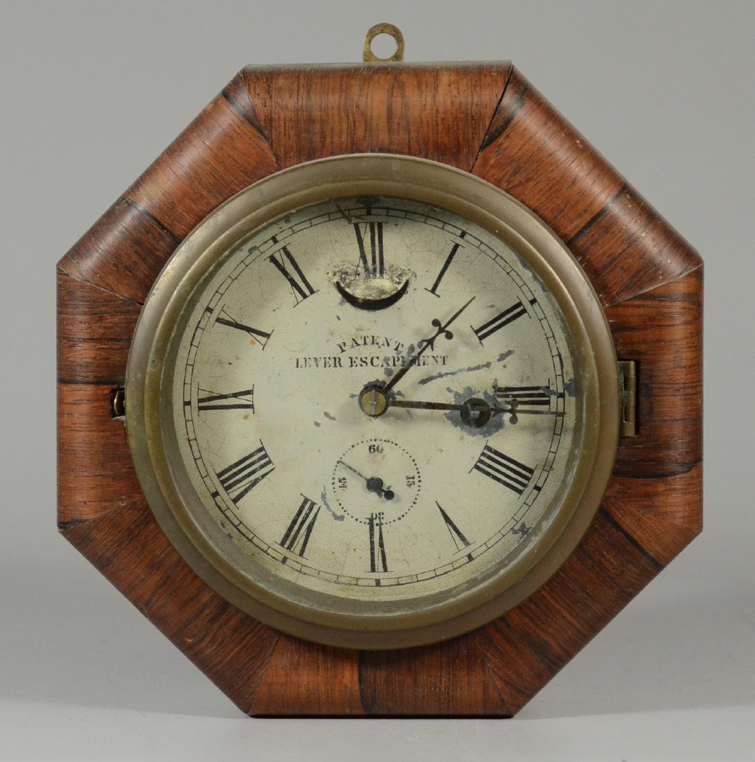 Rosewood EN Welch 30 hr Lever Escapement wall clock,