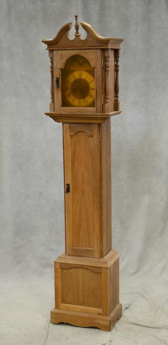 Colonial style hall clock with 3 weight German movem