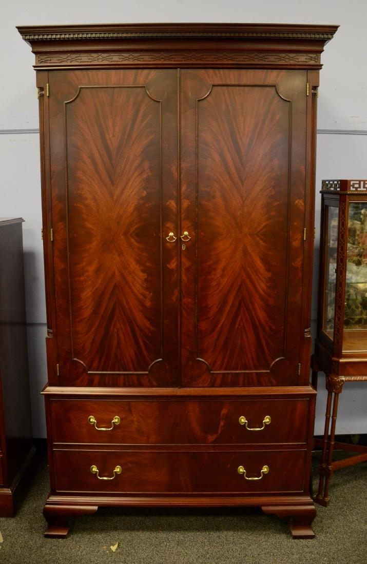 Henkel Harris mahogany entertainment cabinet