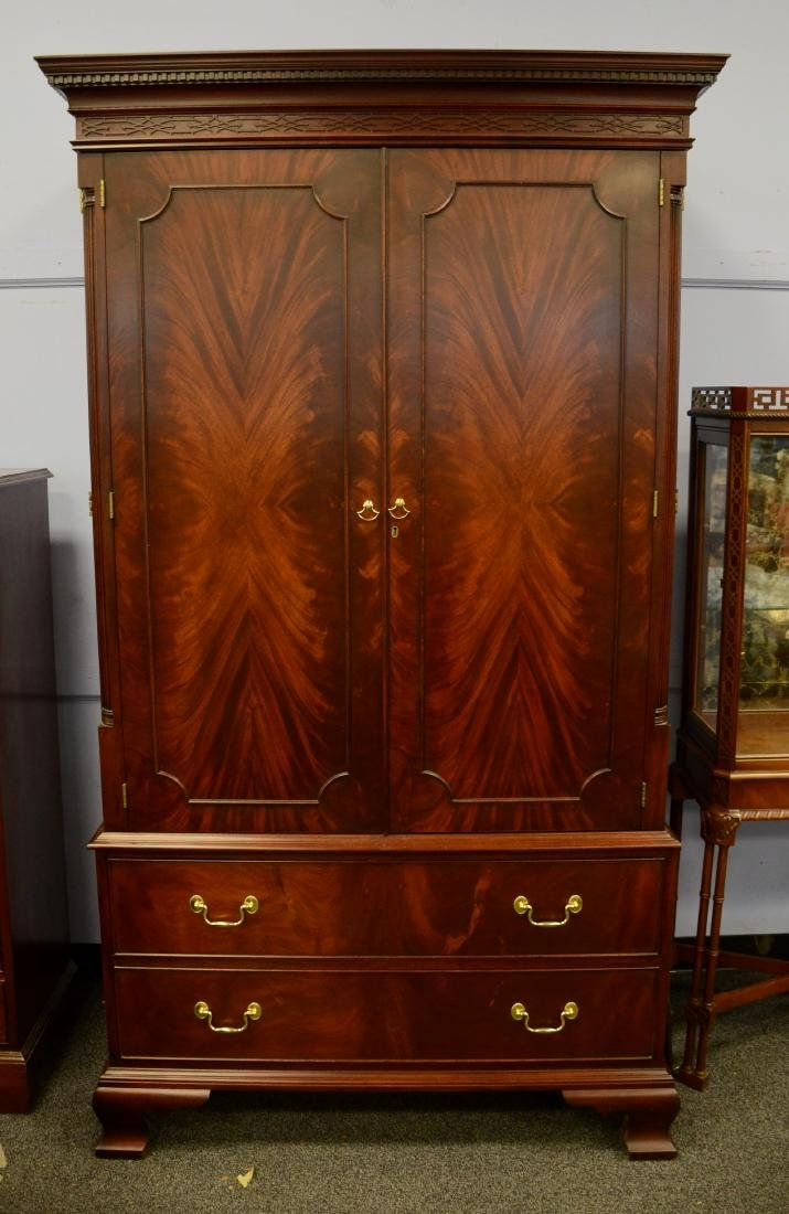 Henkel Harris mahogany entertainment cabinet