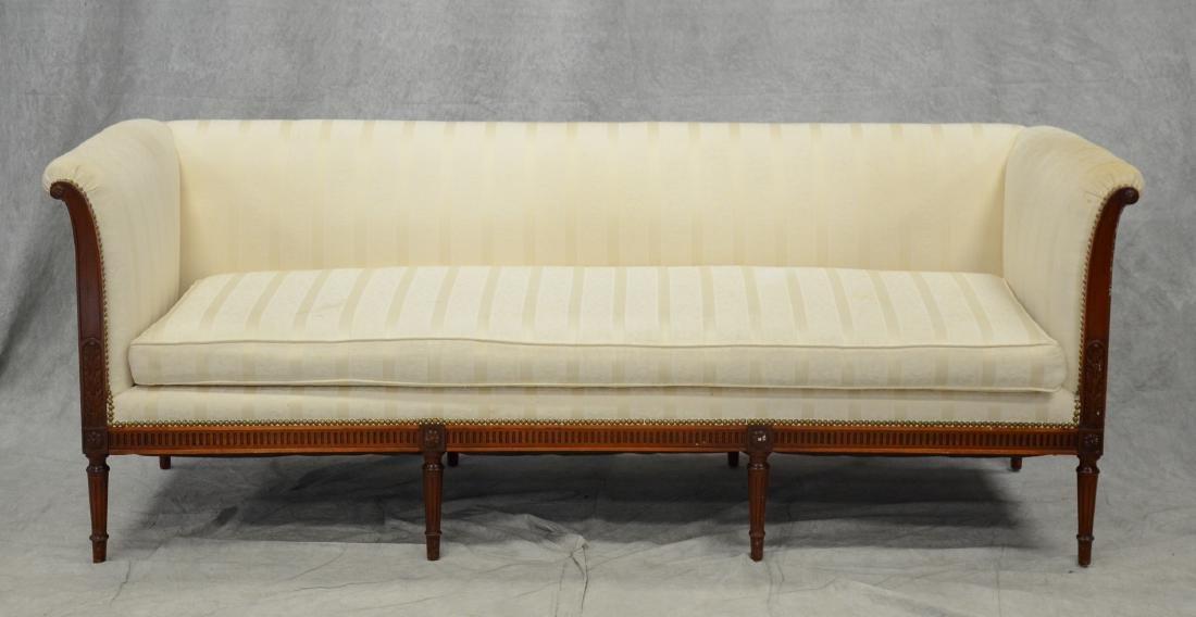 Louis XVI Style 8 legged Sheraton style sofa