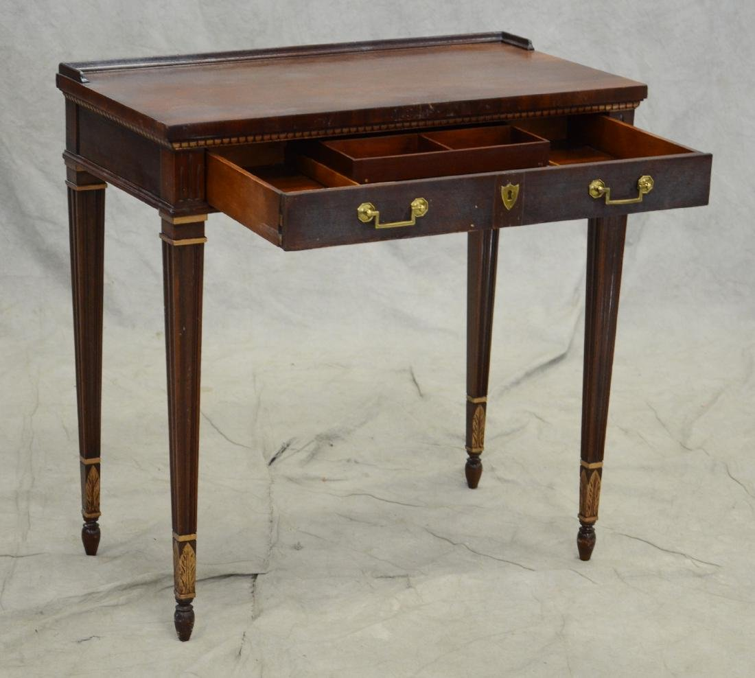 Louis XV style writing desk, gilt highlights, one dr - 3