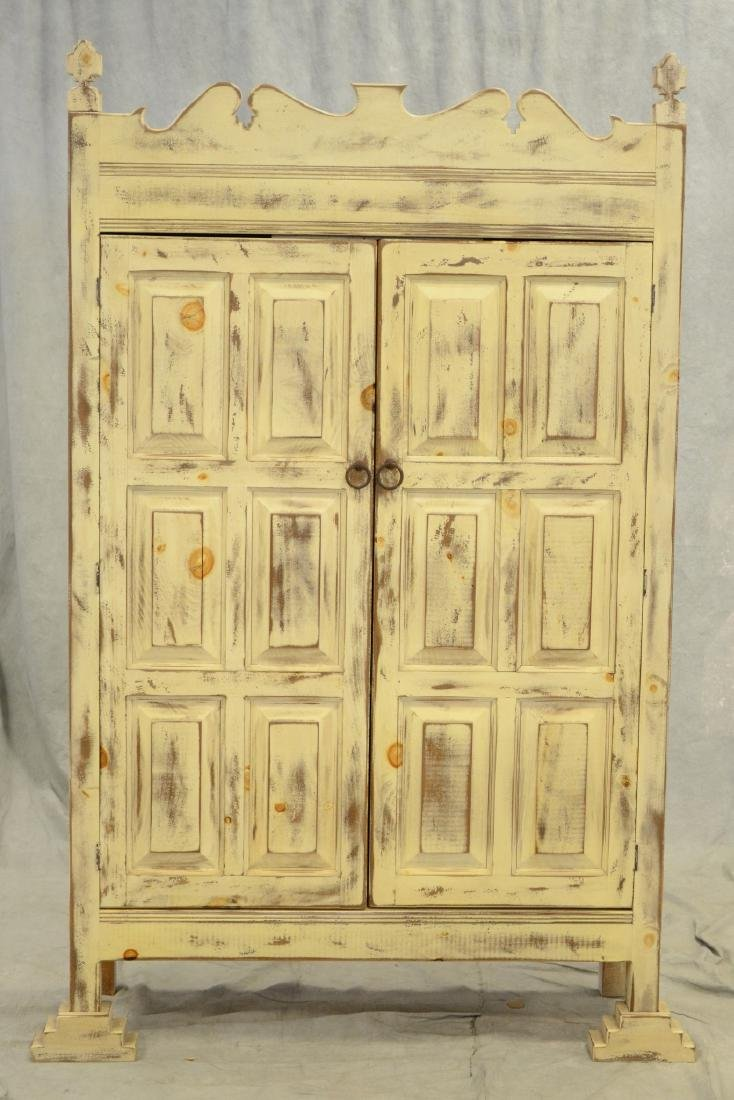 Custom Country French style distressed painted cupboard