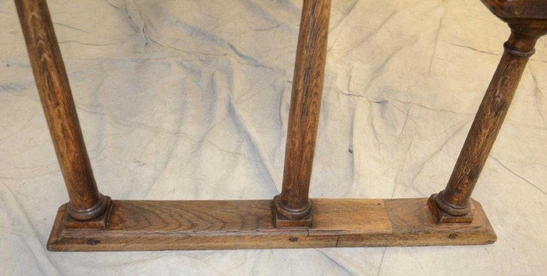 English oak & pine shoe foot school desk - 3