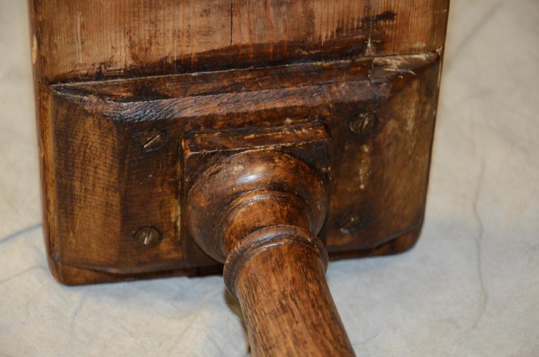 English oak & pine shoe foot school desk - 6