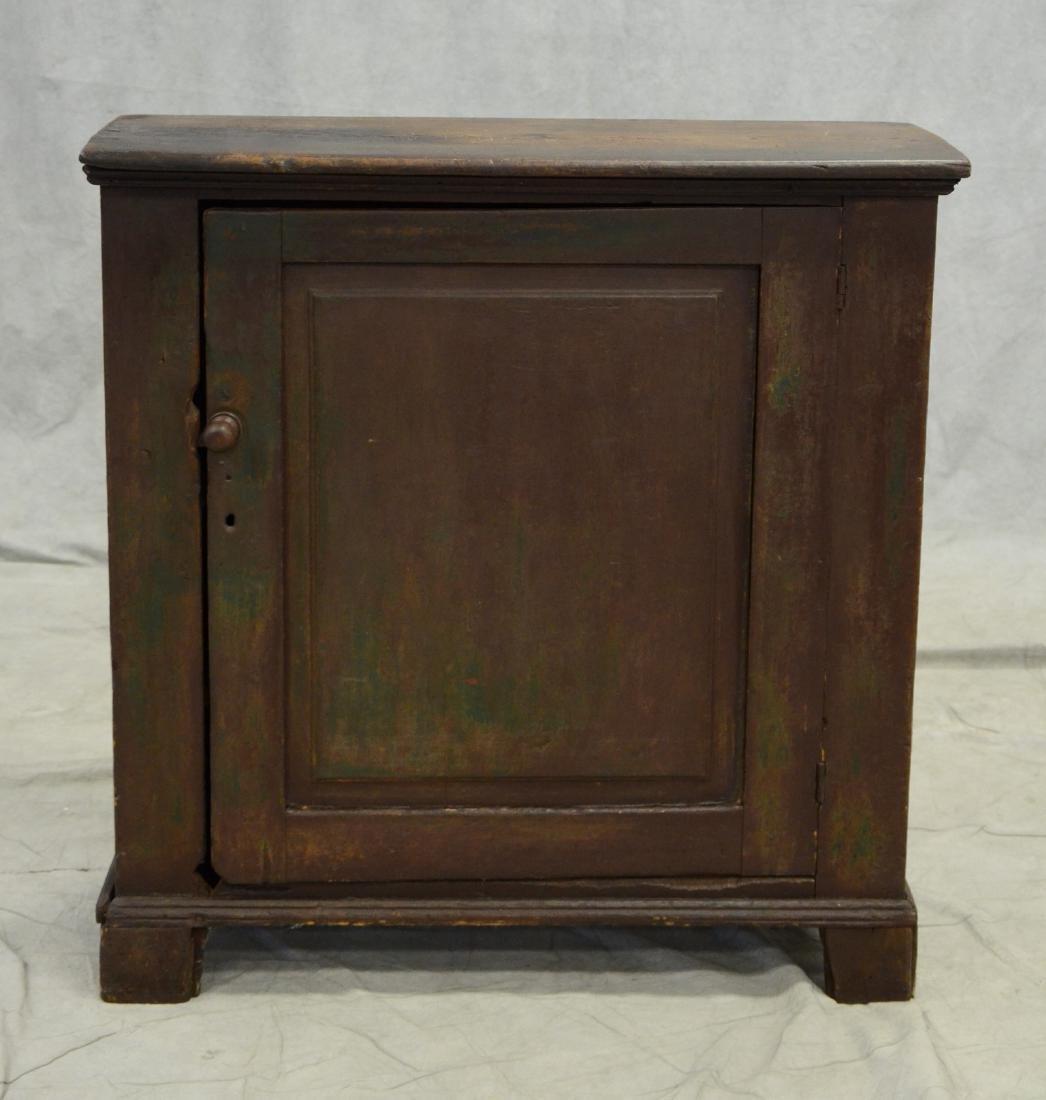 Primitive 1- door distressed painted cabinet