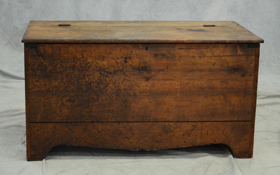 Primitive pine blanket chest