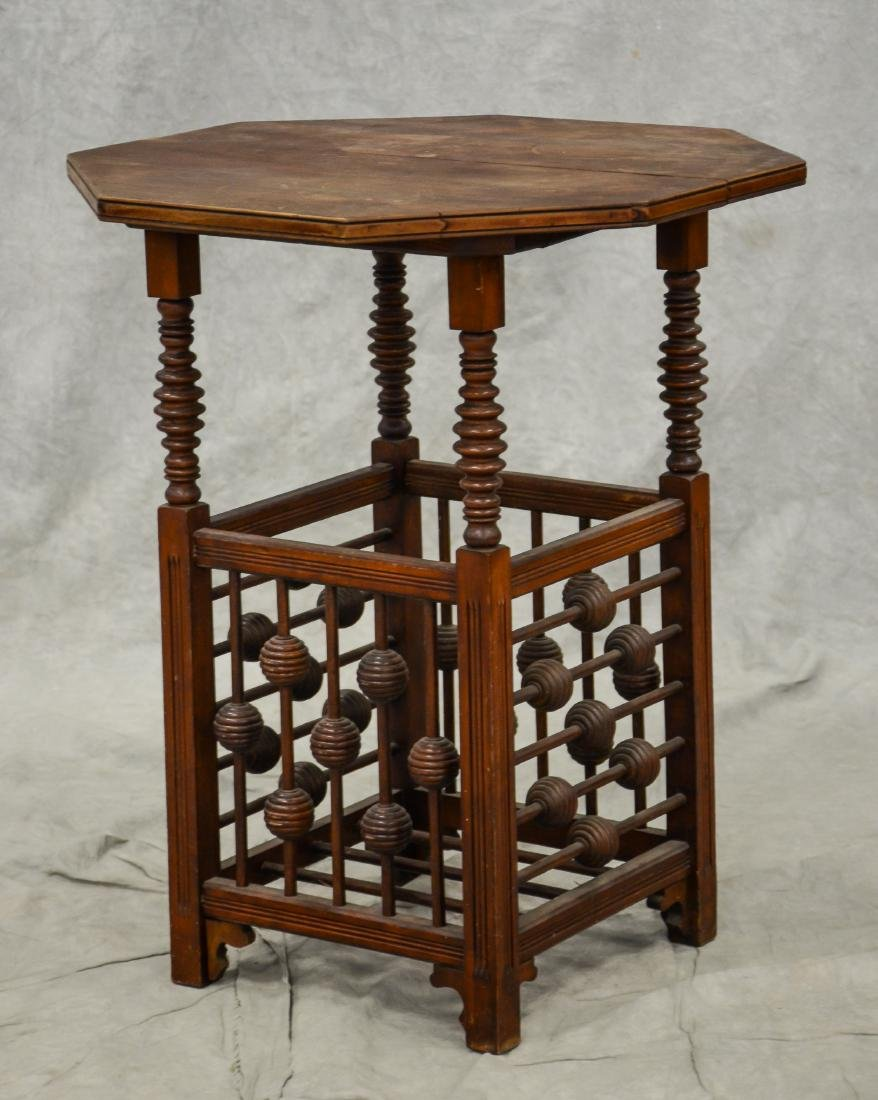 Chippendale style carved octoganal side table