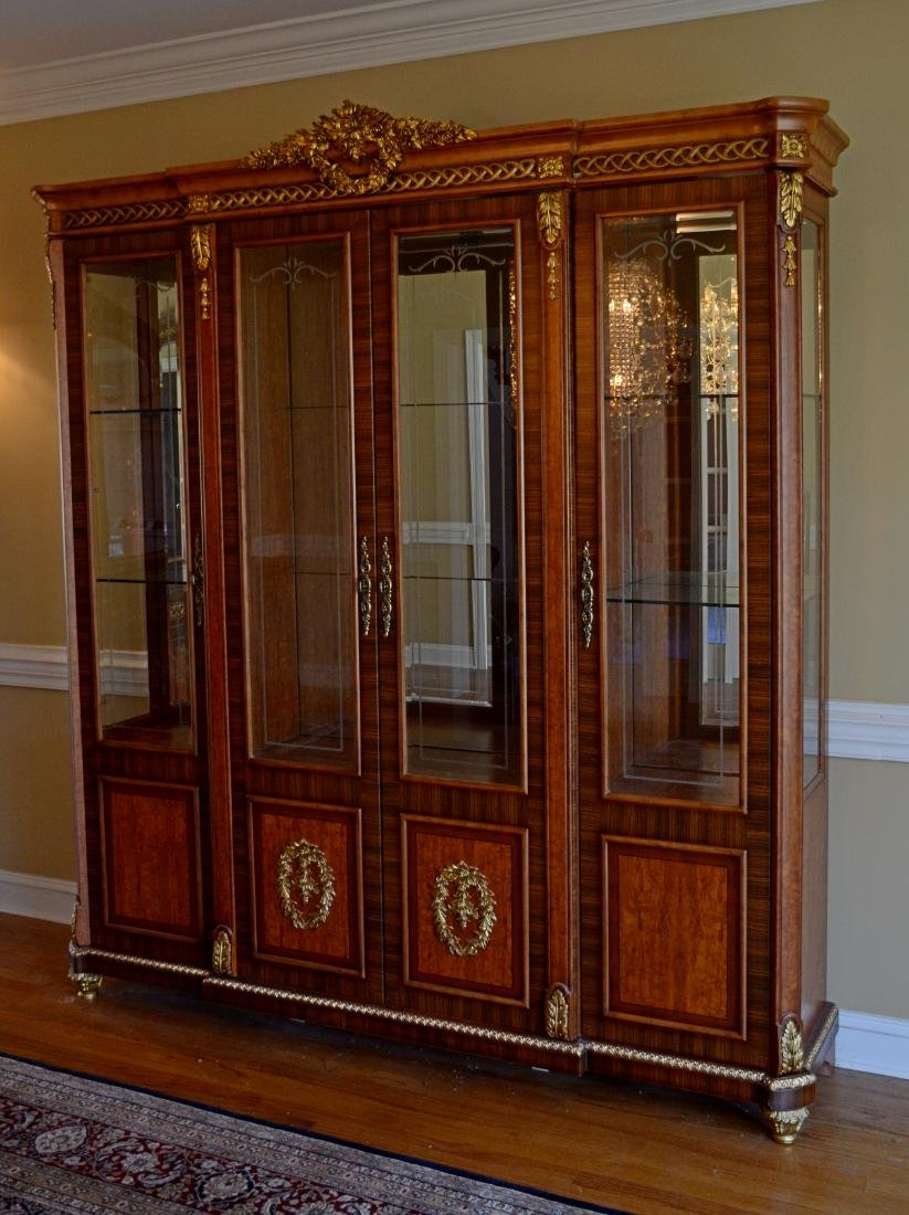 French Style 4 door display cabinet