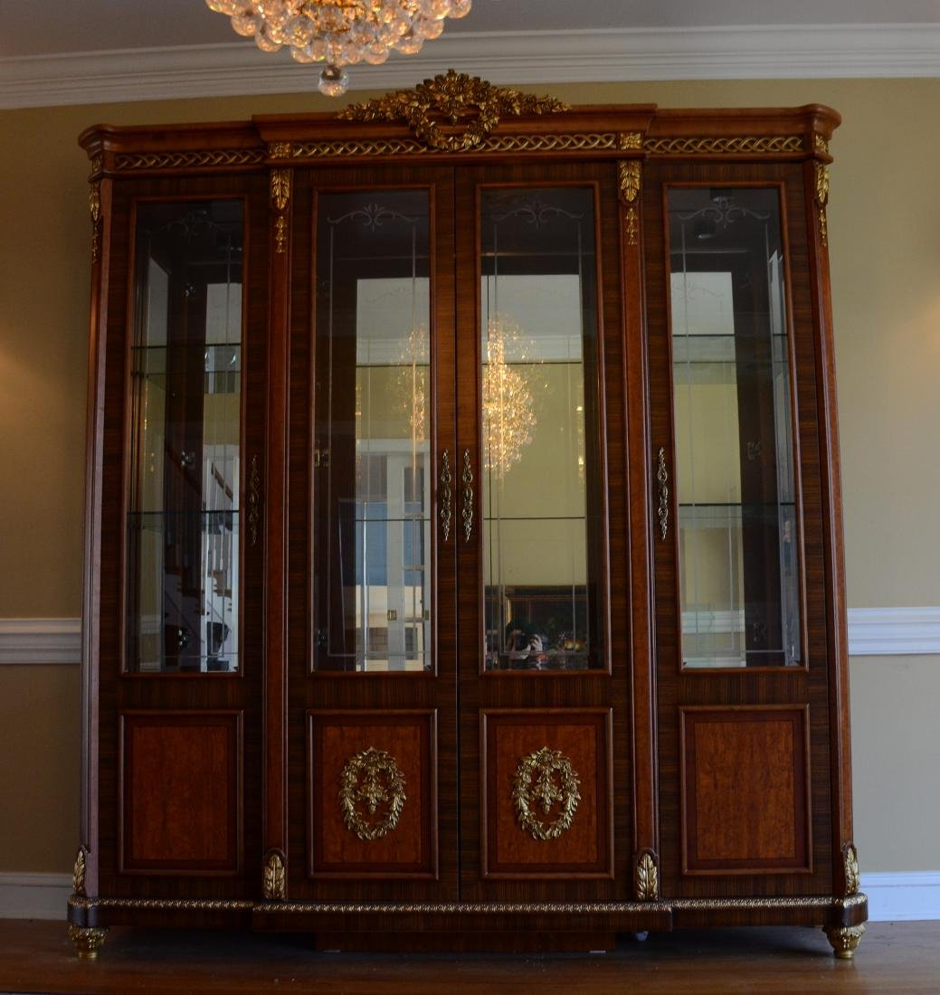 French Style 4 door display cabinet - 2