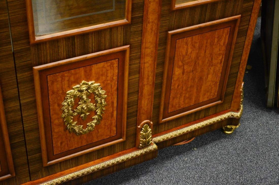 French Style 4 door display cabinet - 5
