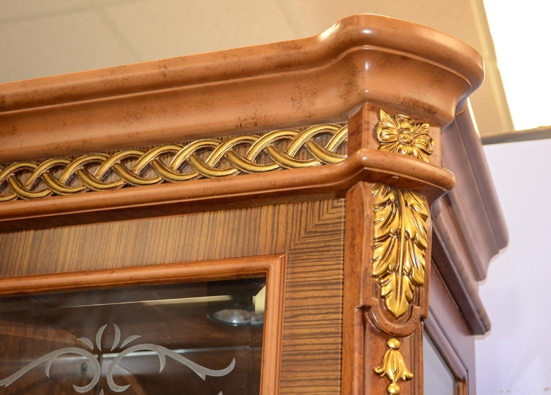 French Style 4 door display cabinet - 6