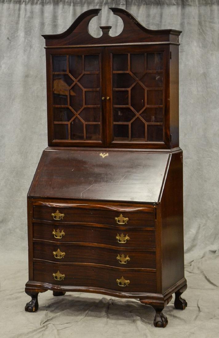 Georgian style ball & claw secretary desk