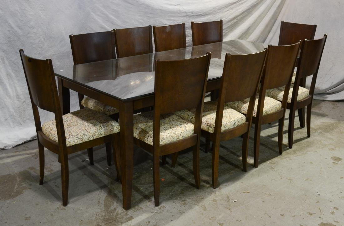 (11) Pc Baronet glass top dining room set