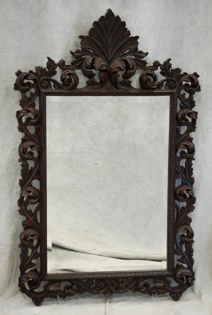 Italian Style distressed painted hanging wall mirror