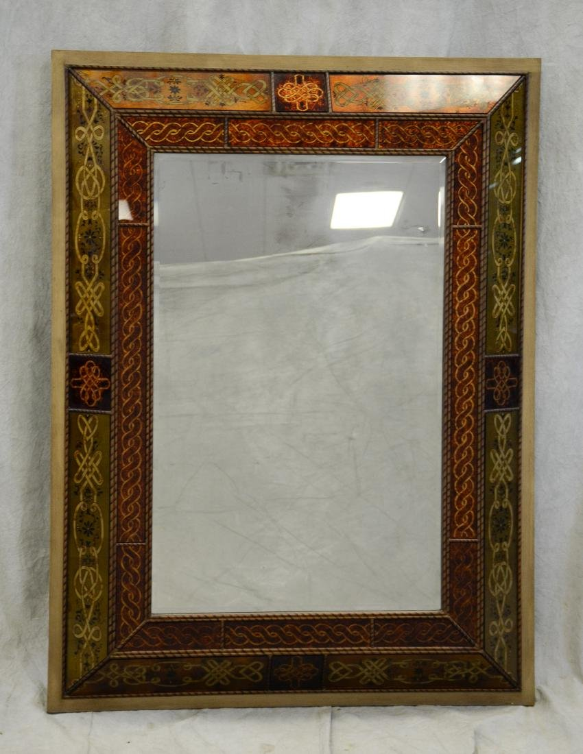 Bombay Montebello reverse painted hanging wall mirror