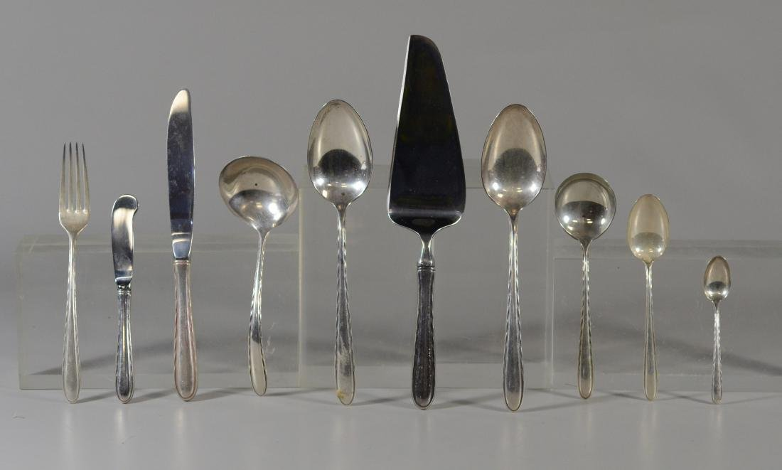 """76 pcs Towle """"Silver Flutes"""" sterling silver"""