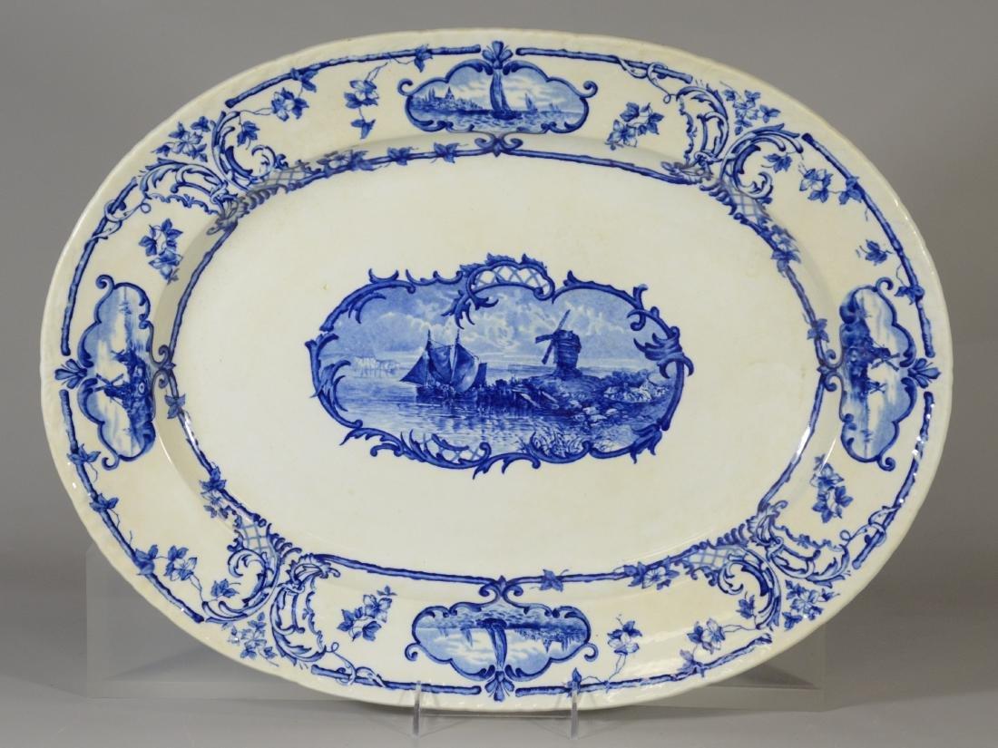 Cauldon, England, Delftland porcelain platter