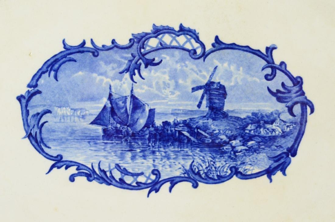 Cauldon, England, Delftland porcelain platter - 2