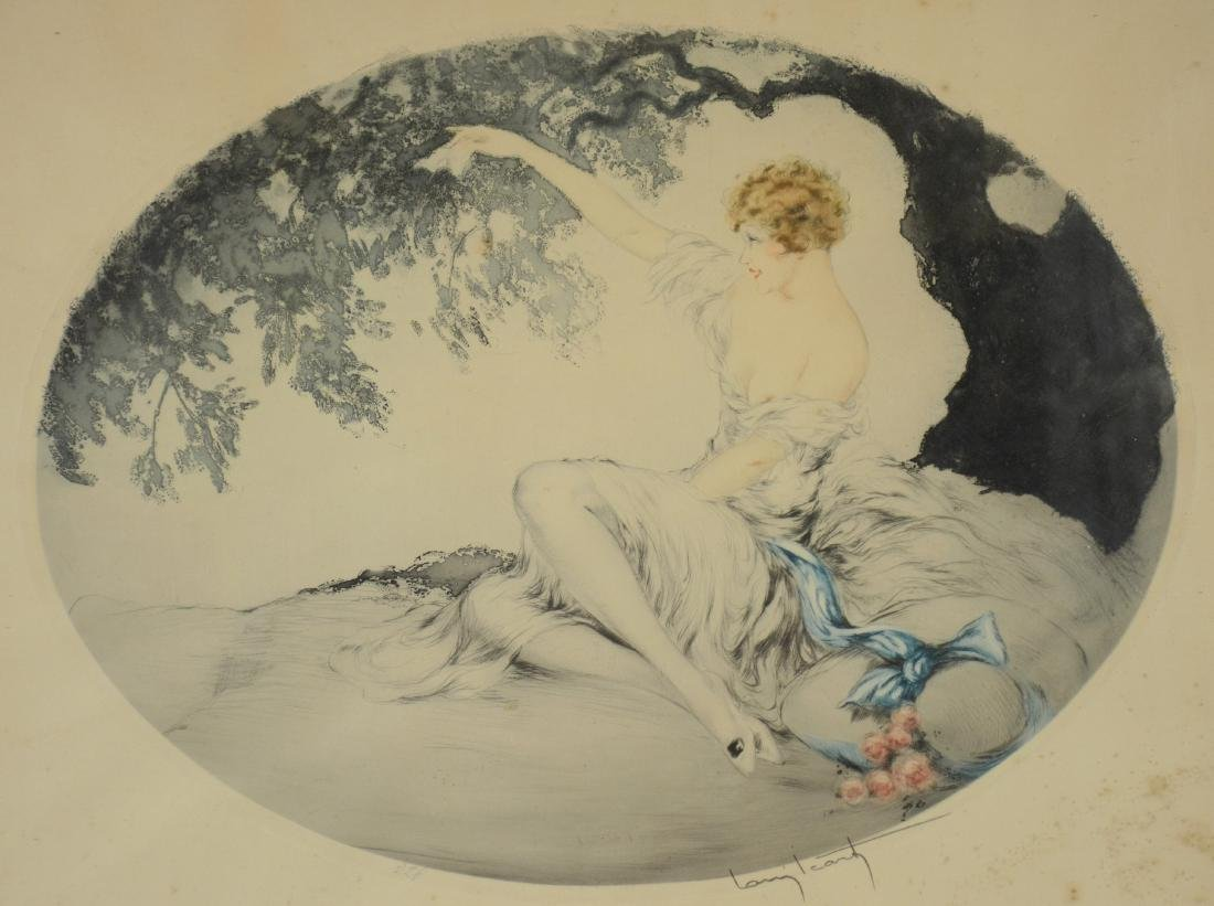 "Louis Icart original etching, ""Farewell"""