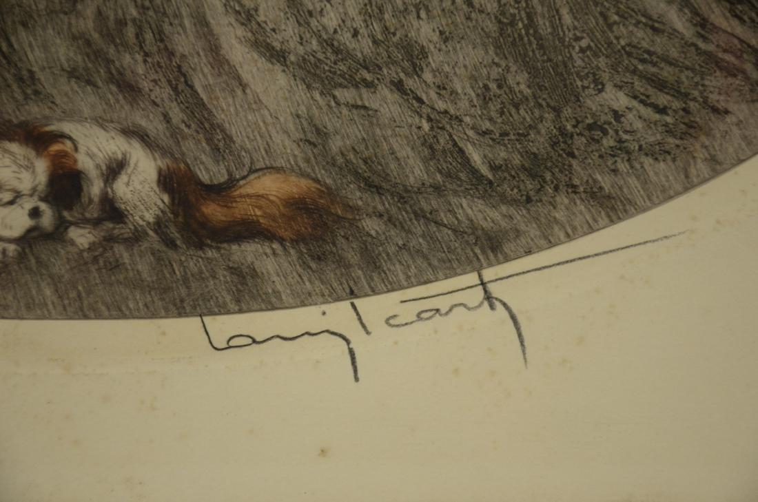 "Louis Icart original etching, ""Sleeping Beauty"" - 3"