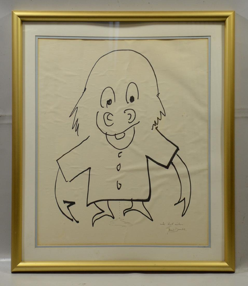 Gerald Durrell drawing of a monkey