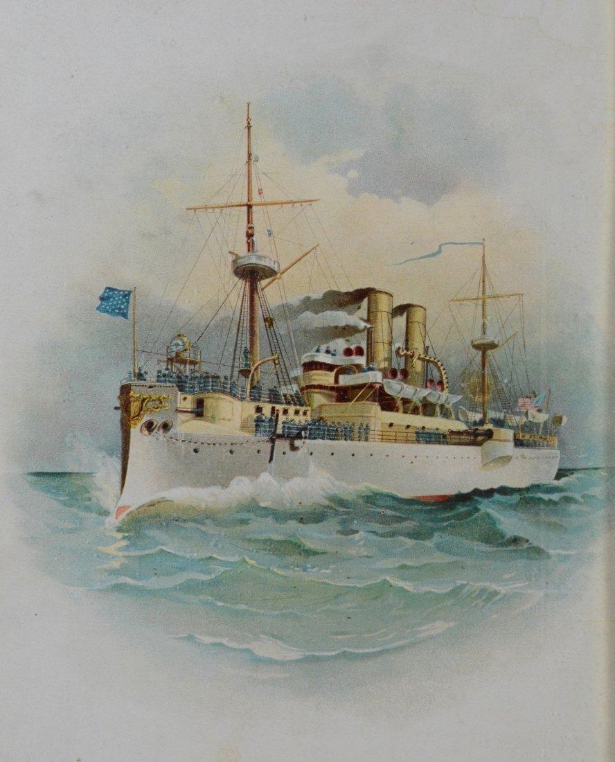 Color lithograph U.S. Battleship 'Maine', 1898 - 3