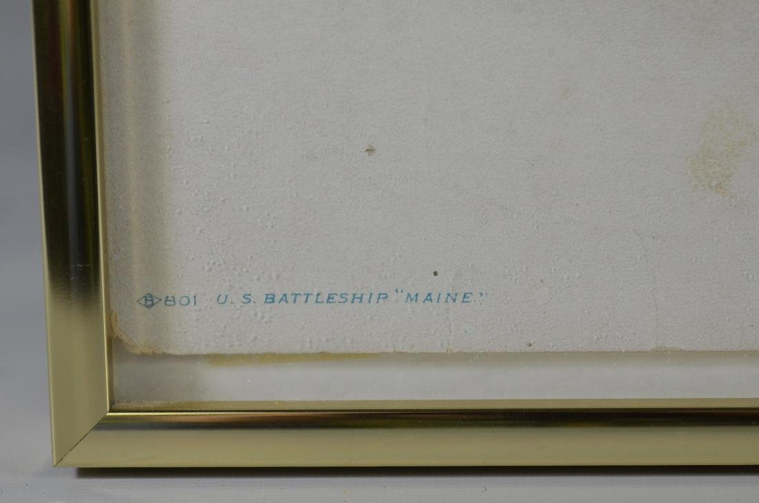Color lithograph U.S. Battleship 'Maine', 1898 - 4