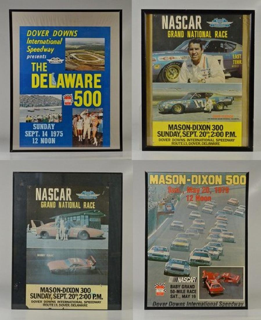 (4) Vintage Race Day Advertising Posters Dover Downs