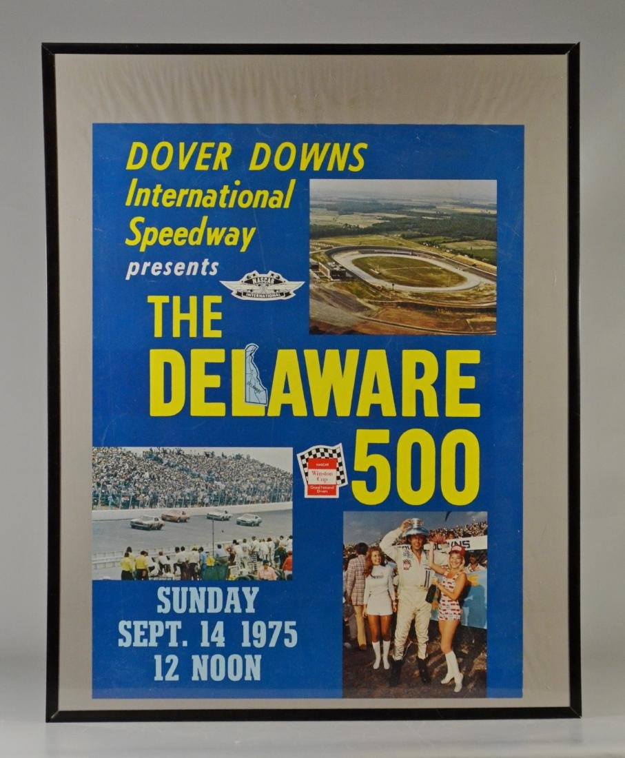 (4) Vintage Race Day Advertising Posters Dover Downs - 2