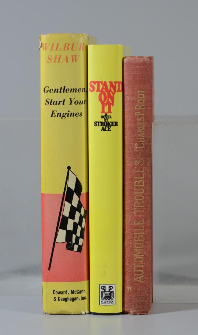 3 Rare Vintage Car Racing Books 1 Signed