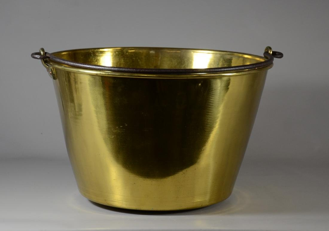 The American Brass Kettle Company brass bucket #2