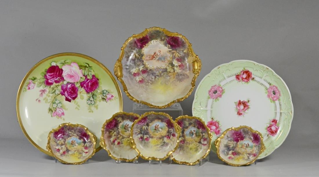 Limoges 6-piece berry set & 2 Royal Austria chargers